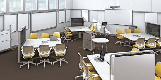 Steelcase Learn Lab mediascape office furniture designed for small study groups