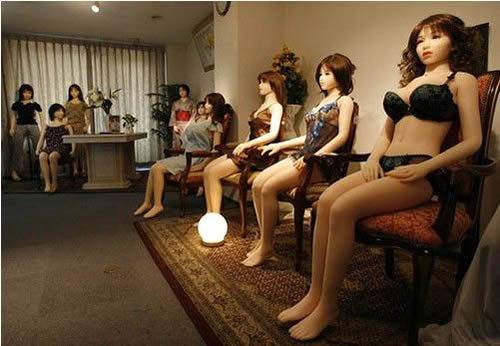 Chinese love dolls made from silicon are availalble in sex service establishments in China