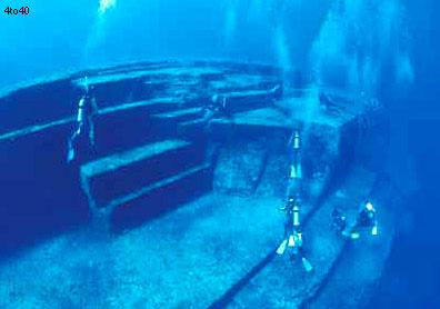 Underwater pyramids near Okinawa are very similar to step pyramids of Egypt and Latin America