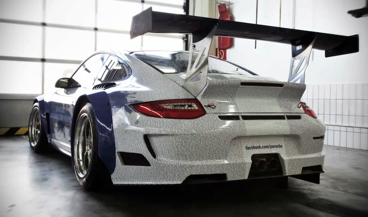 Porsche 911 with the names of its one million Facebook fans imprinted on it - #4