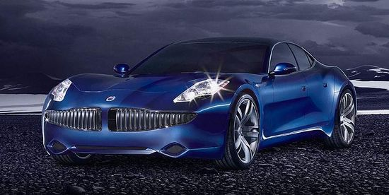 Fisker Automotive Karma sports car angle view