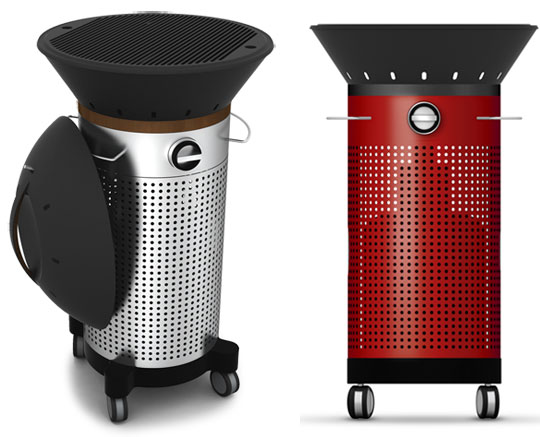 Fuego Element upright grill with top attachment