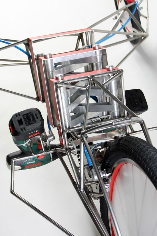 Excentricity Death Mobile Bike uses  two 18-volt Bosch screwdrivers 3