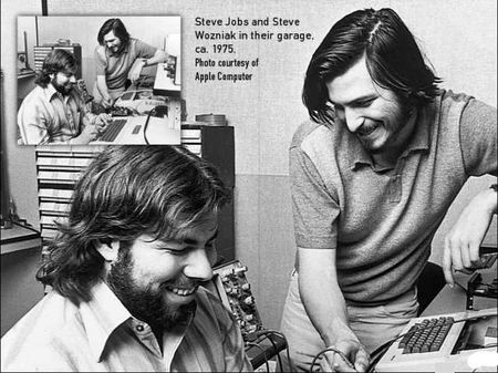 Steve Jobs and Steve Wozniak, the founders of Apple Computer in 1975