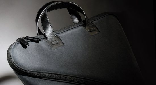 Makio Hasuike's innovative Buccia soft leather, zig-zagging zipper briefcase 1