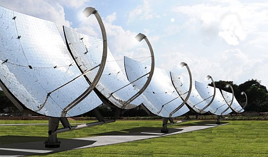 Zenith Solar's concentrated solar power reflector dishes