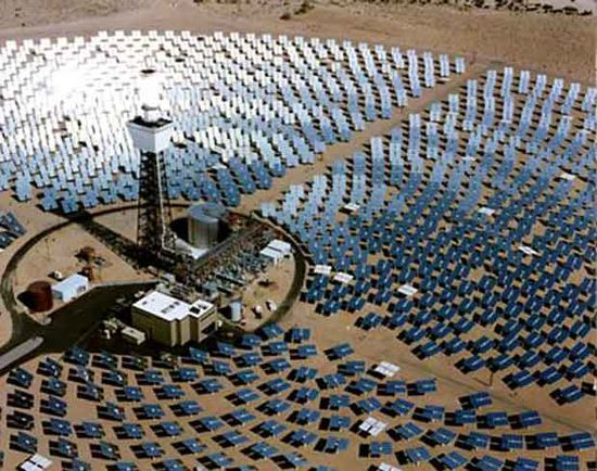 Brightsource concentrated solar power array farm