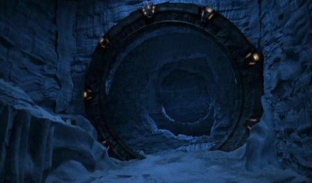 Subterrene bore hole opening leading to strange object three miles under the Antarctic ice cap