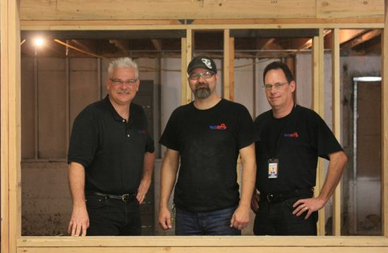 TechShop management team (L-to-R) Mark Hatch, CEO, Terry Sandlin, TechShoop SF Manager and Jim Newton - Founder