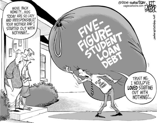 College Students Are Loaded With Debt From Student Loans