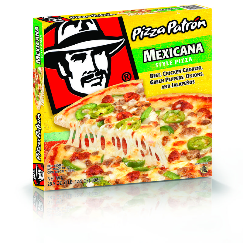 Pizza Patron frozen packaged pizza's