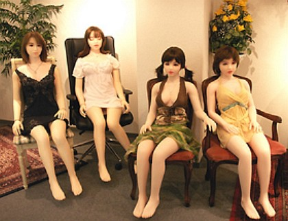Chinese love dolls like these are available in sex service establishments in China