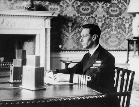 King George VI's famous speech of September 3, 1939 announcing by radio that England was at war with Germany