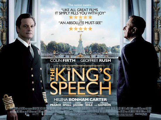 The Film King's Speech Movie - Starring Colin Firth and Geoffrey Rush - Nominated for 12 Academy Awards
