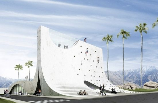BOOM wall rock climbing structure. I don't know about you, but I don't know many seniors that scale walls