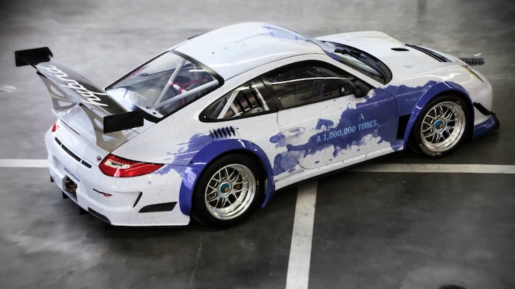 Porsche 911 with the names of its one million Facebook fans imprinted on it - #2