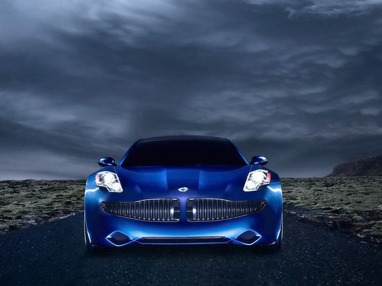 Fisker Automotive Karma sports car front view