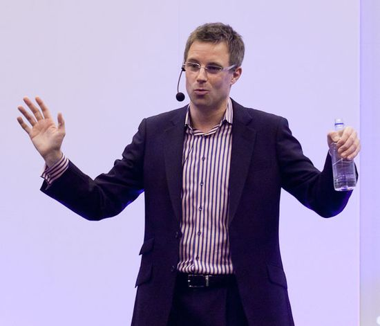 Stephen Haines, commercial director of Facebook's U.K. operation, speaking in London at the Technology for Marketing and Advertising conference