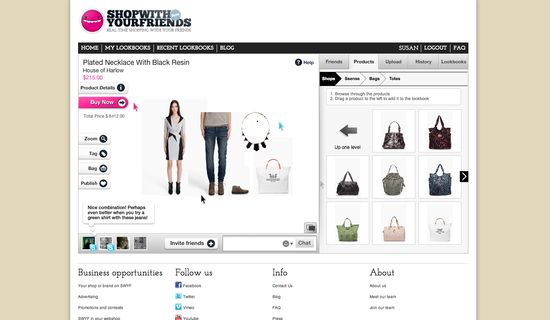 ShopWithYourFriends allows you to group buy with your friends and create lookbooks