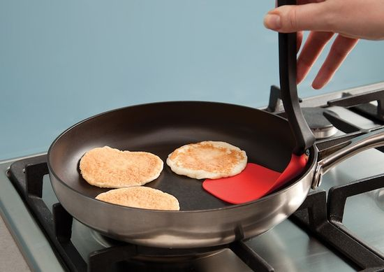 Chopula shown flipping pancakes
