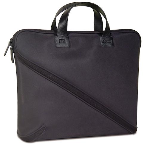 Makio Hasuike's innovative Buccia soft leather, zig-zagging zipper briefcase 2