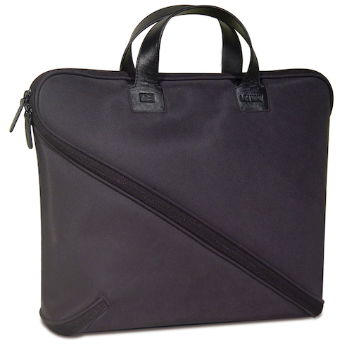 Makio Hasuike's innovative Buccia soft leather, zig-zagging zipper briefcase 2