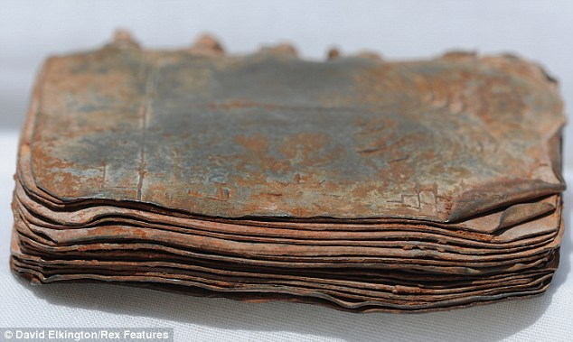 One of 70 ancient little books with lead pages bound with wire could secrets of early Christianity