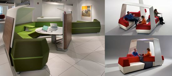 Steelcase media-scape lounge unit variations