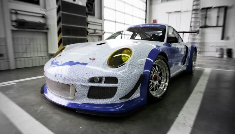 Porsche 911 with the names of its one million Facebook fans imprinted on it - #3