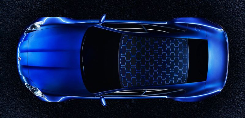 Fisker Automotive Karma sports car rooftop view
