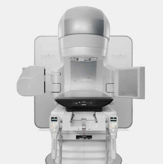 Varian Medical Systems, Inc's new TrueBeam™ medical linear accelerator front view