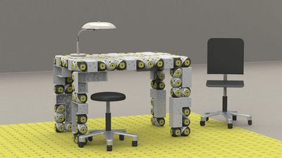 Roombot in the form of a desk