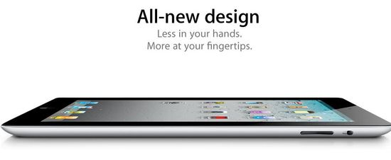 IPad 2, All-new design, Less in your hands, More at your fingertips