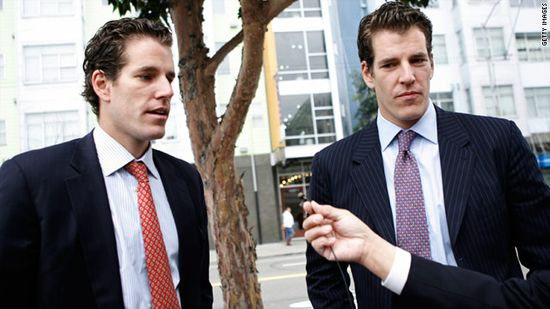 Cameron (right) and Tyler Winklevoss speak to reporters after leaving U.S. Court of Appeals in San Francisco