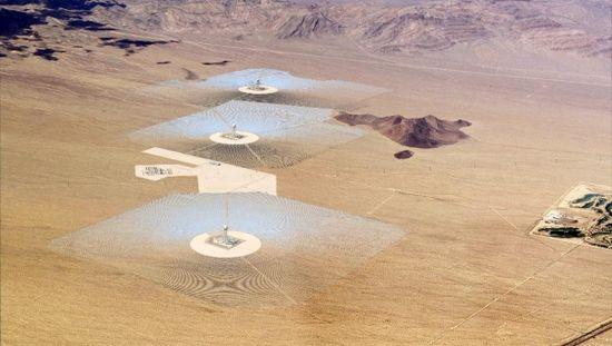 Bright Source Ivanpah solar array