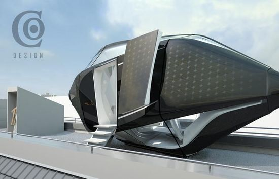 Eco-Friendly Rooftop Hotel Capsule 1