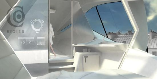 Eco-Friendly Rooftop Hotel Capsule 6