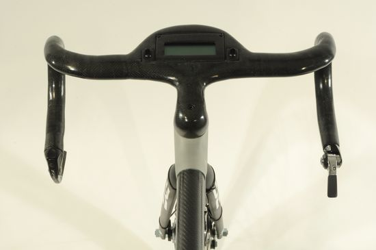 The Alpha Bike handlebars with integrated LED display. That's so cool