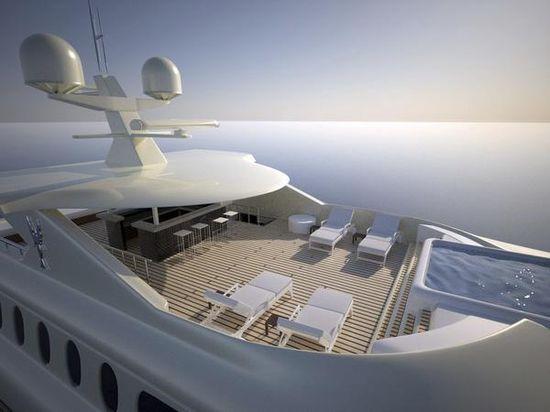 Motor Yacht Egeria top deck
