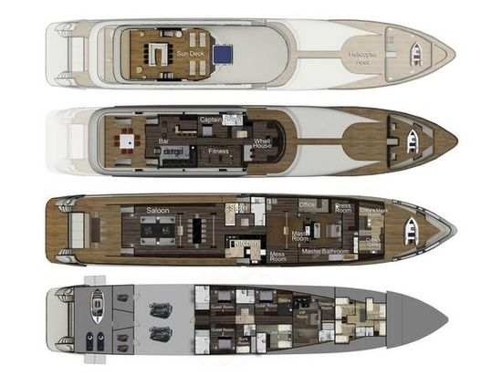 Motor Yacht Egeria is a 58m or 190 ft superyacht by Egeria Yachts. Under construction for delivery in August 2011 D