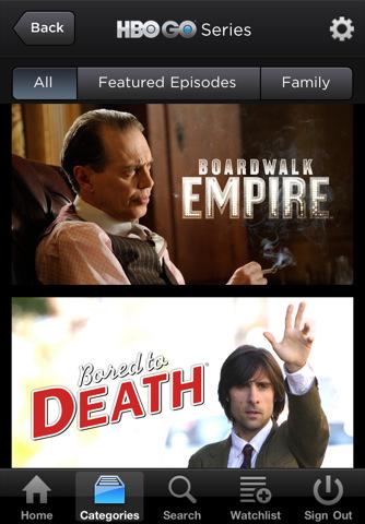 HBO GO screenshots