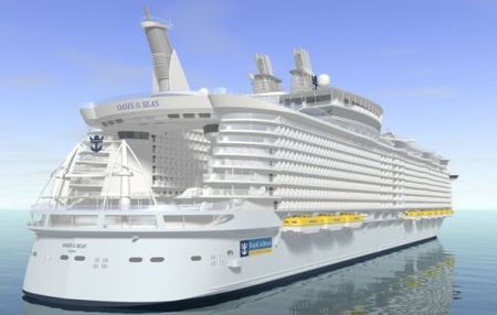 The Oasis of the Seas, the world's largest cruise ship