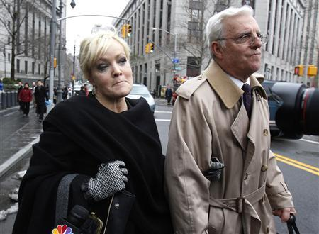 Danielle Chiesi, a principal defendant in the Galleon hedge fund insider trading investigation, leaves the Federal Courthouse after pleading guilty to criminal charges in New York January 19, 2011