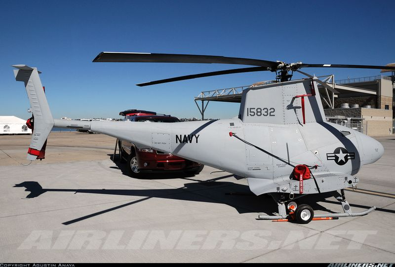MQ-8B Fire Scout used by the U.S. Navy on land