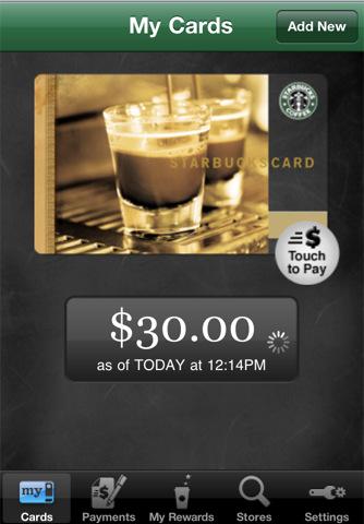 Starbucks My Cards iPhone App