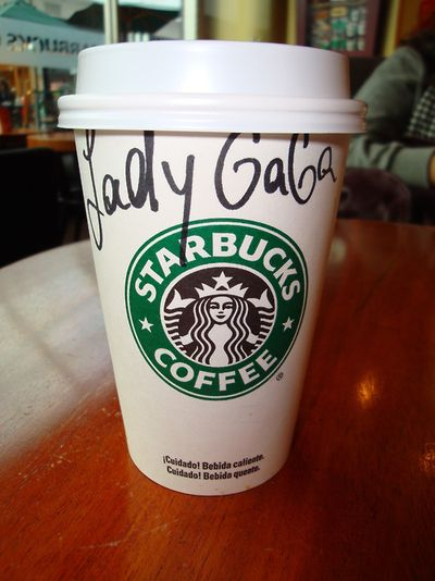 Lady Gaga autographed Starbucks cup
