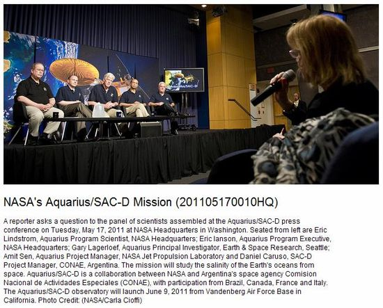 NASA Aquarius-SAC-D Mission Team
