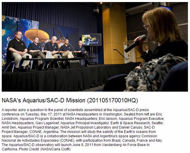 NASA Aquarius-SAC-D Mission Team