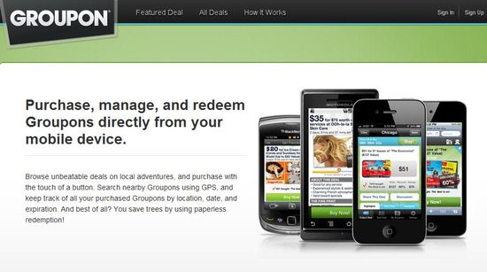 GROUPON ANNOUNCES GROUPON NOW, A MOBILE APP FOR DAILY DEALS