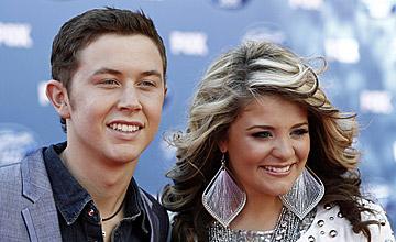 American Idoll 2011 finalists Lauren Aliana and Scotty McCreery